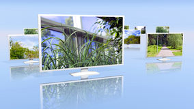 Group of LCD displays Stock Images