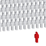 Group leader. Vector illustration of group leader Royalty Free Stock Photos