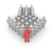 Group with leader Royalty Free Stock Image