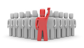 Group with leader Royalty Free Stock Images
