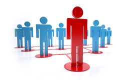 Group leader. Concept of group leader in a hierarchy Stock Images