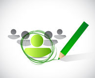 Group leader selection process. illustration Stock Photography