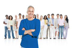 The Group Leadership Standing out of the Crowd.  Royalty Free Stock Photos