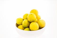 Group of lemon isolated on white background Royalty Free Stock Photos