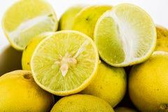 Group of lemon isolated on white background Stock Photo