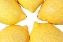 Group of lemons closeup. Royalty Free Stock Image