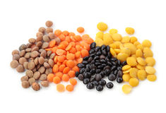 Group of lentils royalty free stock images