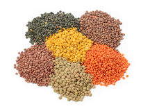 Group of lentils royalty free stock photo