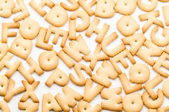 Group of letter cookie Stock Images