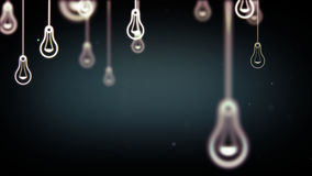 Group of light bulb shapes symbols Royalty Free Stock Image