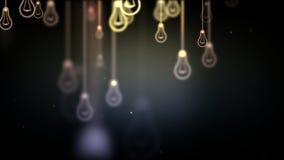 Group of light bulb shapes symbols Stock Image