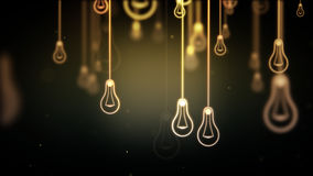 Group of light bulb shapes symbols Stock Images