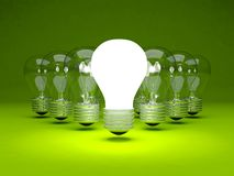 Group of light bulbs Royalty Free Stock Photography