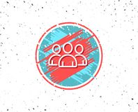 Group line icon. Users or Teamwork sign. Royalty Free Stock Images
