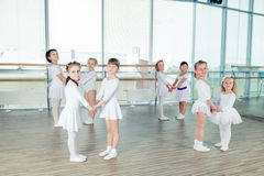 Group of little ballet dancers Royalty Free Stock Image