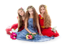 Group of little beautiful girls Royalty Free Stock Photo