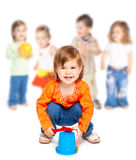 Group of little children Stock Images
