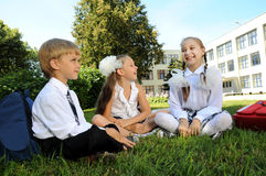 Group of little children Royalty Free Stock Photography
