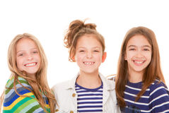Kids happy smiles. Group of little children, girls or kids happy smiles royalty free stock photo