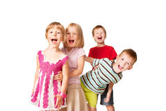 Group of little children having fun. Stock Image