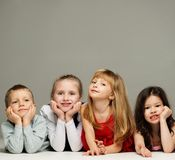 Group of little children lying Royalty Free Stock Photography