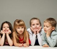 Group of little children Stock Photos