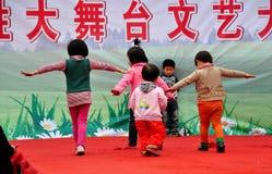 Pengzhou, China: Little Children Playing on Runway Royalty Free Stock Photography