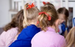 Group of Little Girls royalty free stock image