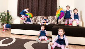 Group of little playful active child Royalty Free Stock Photos