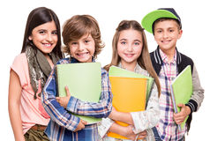 Group of little students Royalty Free Stock Photography