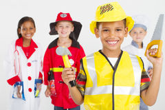 Group little workers Royalty Free Stock Photos