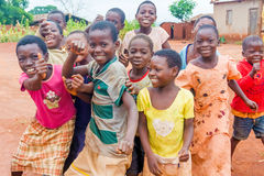 Group of local children in Malawi. Royalty Free Stock Photos