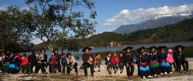 A group of local people in Chinese village Stock Photo