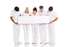 Group looking banner Royalty Free Stock Image