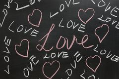 Group of Love words Royalty Free Stock Image