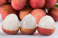 Group of lychee Stock Image