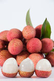 Group of lychee Royalty Free Stock Photo