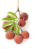 Group of lychee tropical fruit Stock Photo