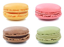 Group of macarons macaroons cookies collection dessert from Fran stock photo