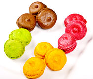 Group of colourful macaroons Royalty Free Stock Image