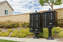 Group of Mailboxes Royalty Free Stock Images