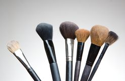 Group of make up brushes Stock Photo