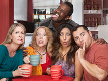 Group Making Funny Faces Stock Photography