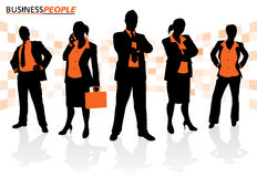 Group of Male and Female Business People Stock Photo
