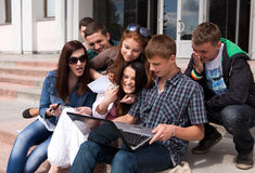Group of male and female students Royalty Free Stock Image