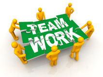 Group of man assembling Team Work puzzle Stock Photography
