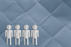 Group of man paper cut Stock Photo
