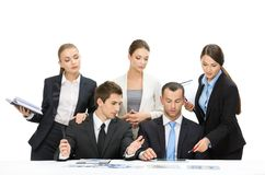 Group of managers working Royalty Free Stock Photo