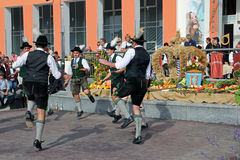 Group of mans dance in bavaria Royalty Free Stock Photos