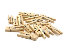Group of many wooden pins Royalty Free Stock Images
